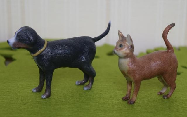 ペットの3Dフィギュア 尻尾の形状によるサイズの違い