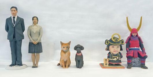 3Dスタジオ rakushumiで作れる3Dフィギュアは3種類