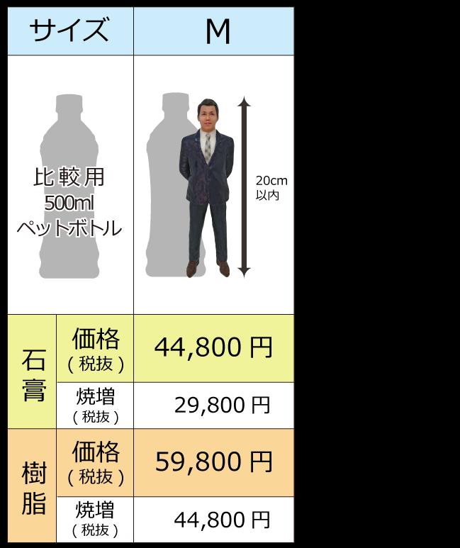 顔ハメ3Dフィギュア メメント 価格表(SP M)