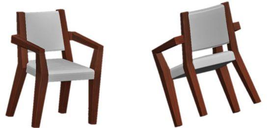 着席モデル 椅子